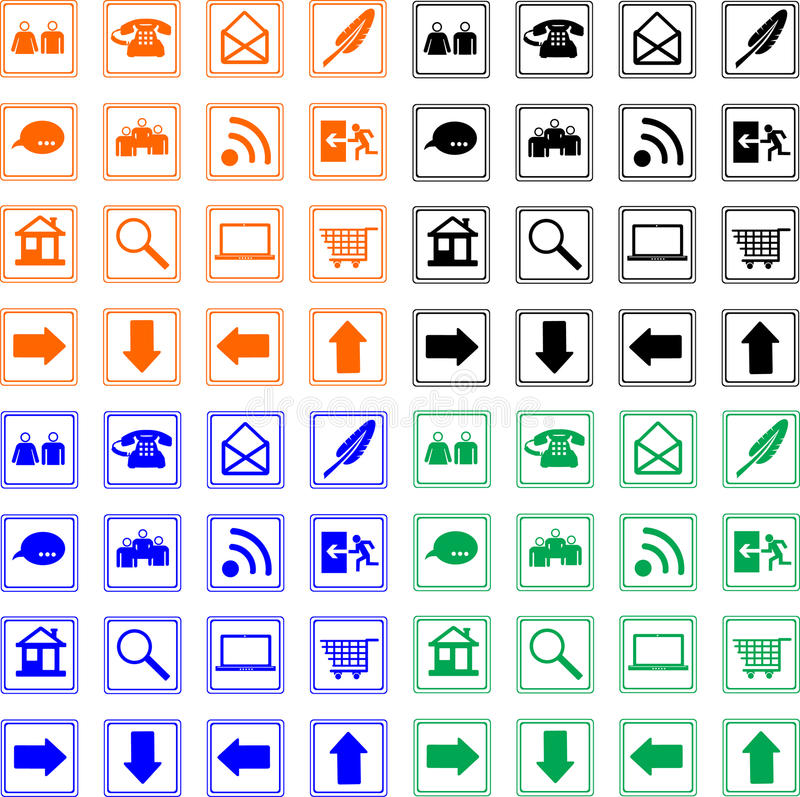 Collection web icon vector illustration