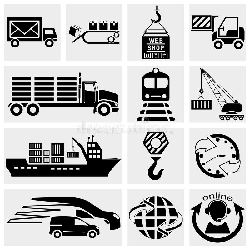 Web icon, internet icon, business icon, supply cha. Collection of web icon, internet icon, business icon, supply chain, shipping, shopping and industry vector royalty free illustration