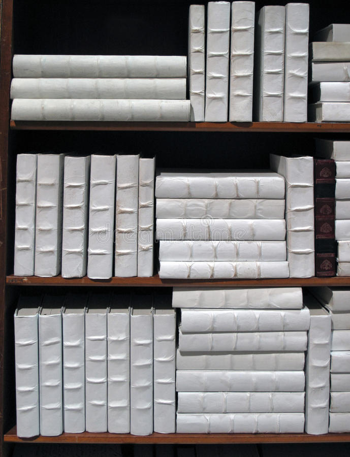 Collection of White Books royalty free stock photography