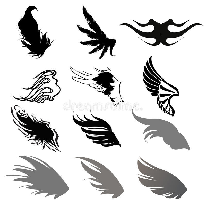 Download Wing Silhouette stock vector. Image of power, animals - 30041800
