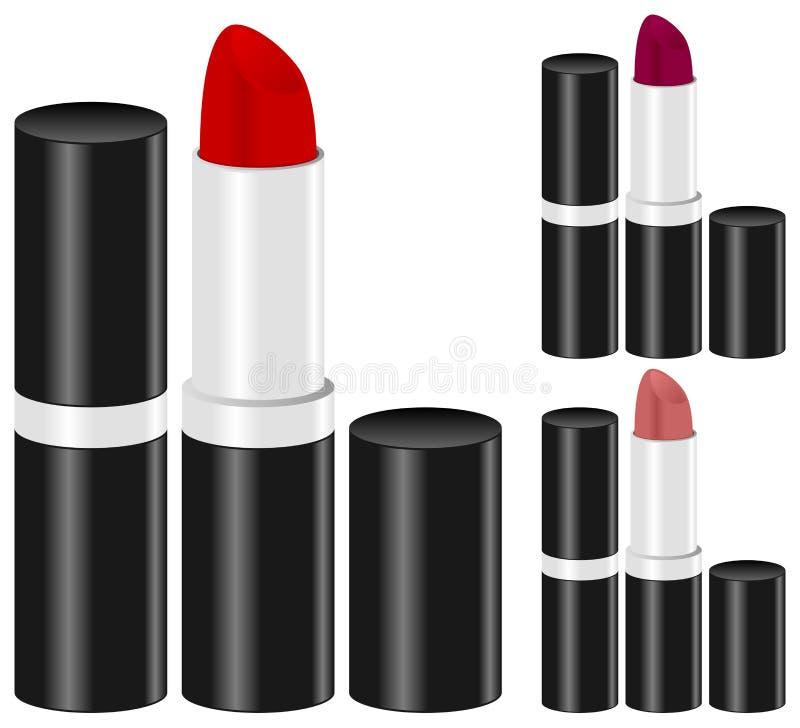 Woman Lipstick Make Up Set Royalty Free Stock Images