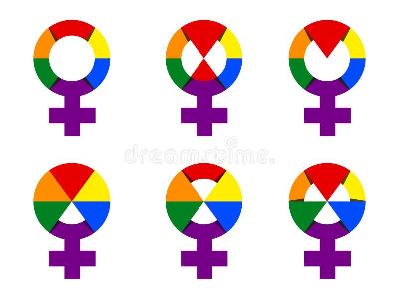 Same Sex Female Sign Ranbow Socks