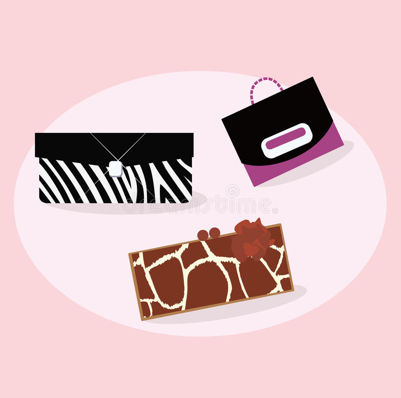 Collection Of Women Fashion Hand Bags Stock Photo