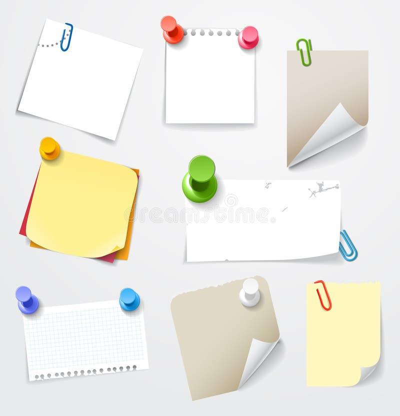 Download Collectionn Das Etiquetas De Papel Ilustração do Vetor - Ilustração de elemento, cartão: 29838637