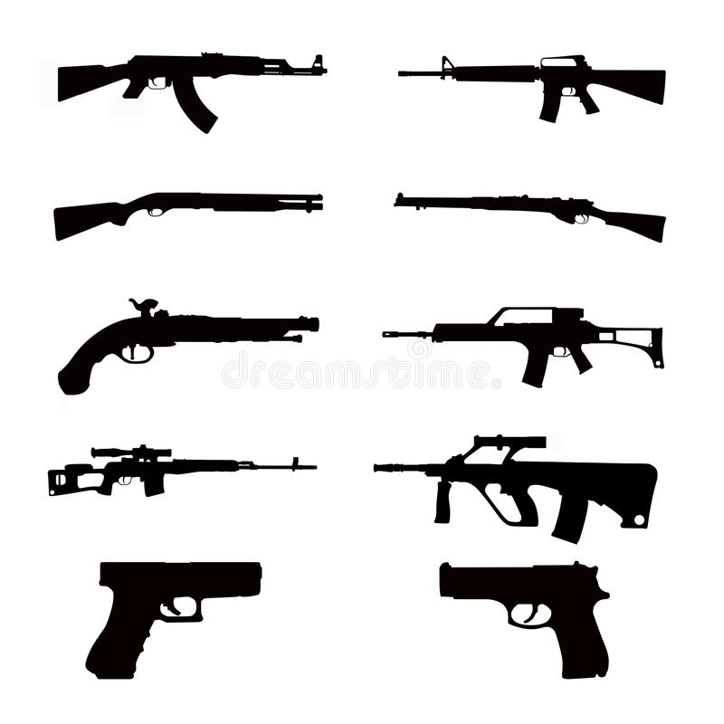 Collections d'arme illustration stock