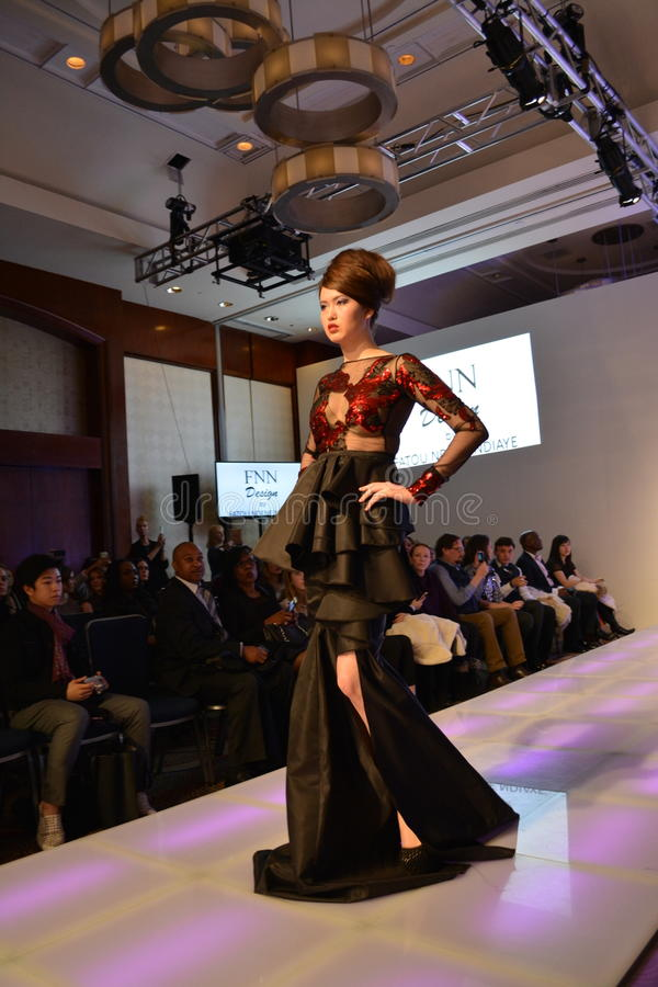 Collections de l'automne 2016 de semaine de mode de couture photographie stock