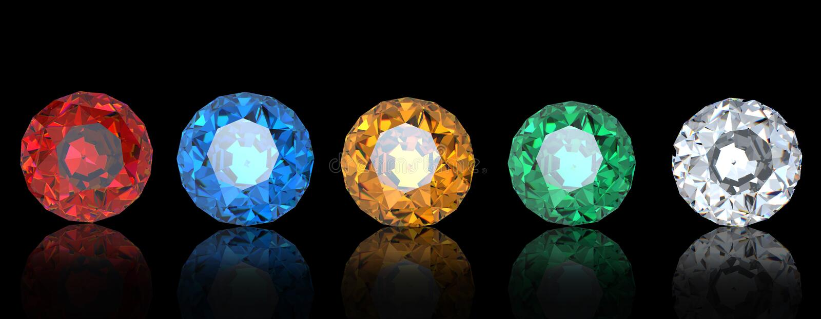 Collections of gems stock illustration