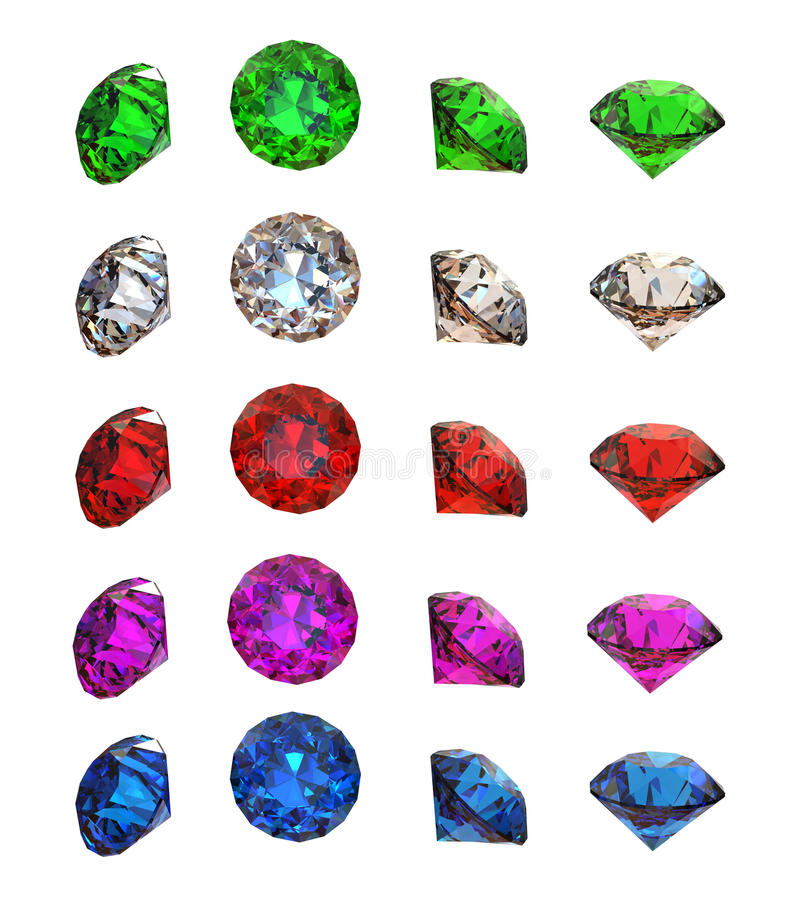 Collections of gems royalty free illustration