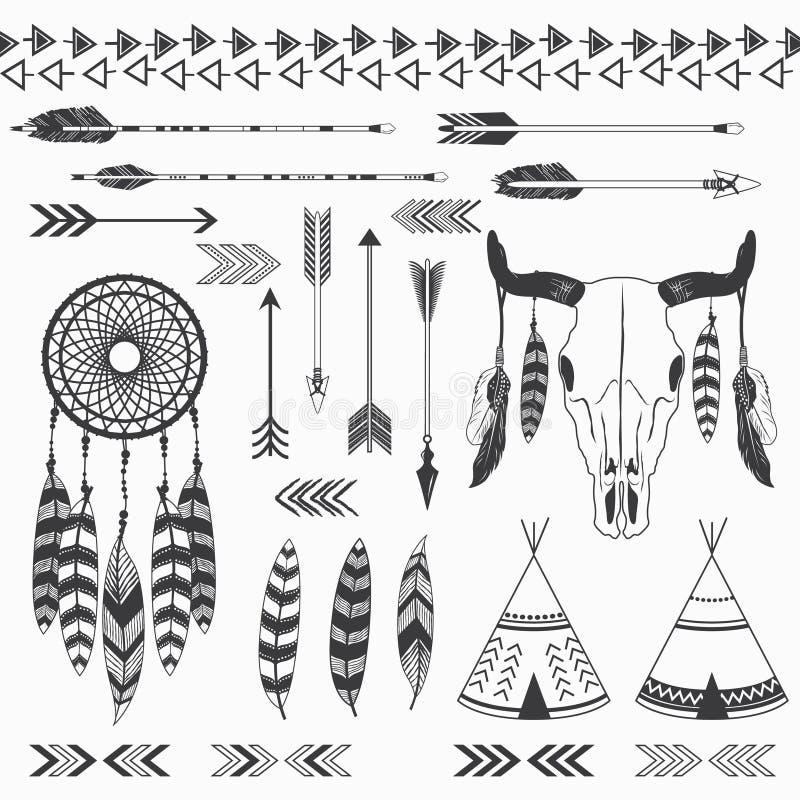 Collections indiennes tribales illustration libre de droits