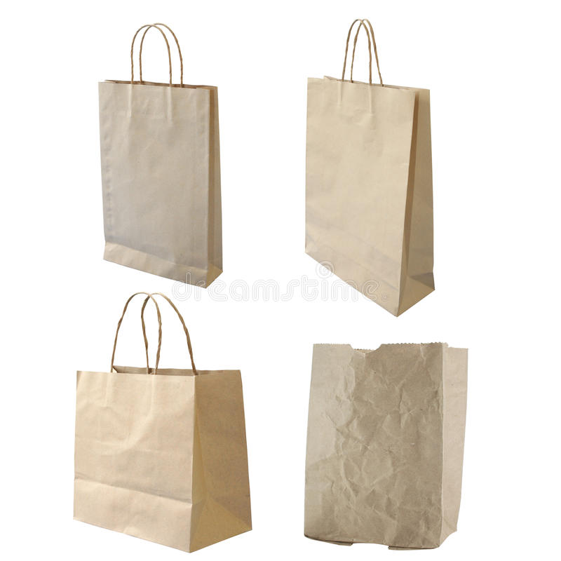 Download Collections Of Isolated Paper Bag Stock Photo - Image: 24990588