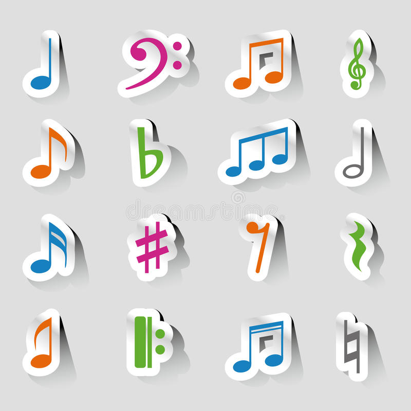 Collections of music notes stock illustration