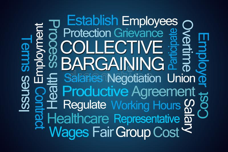 Collective Bargaining Word Cloud stock illustration