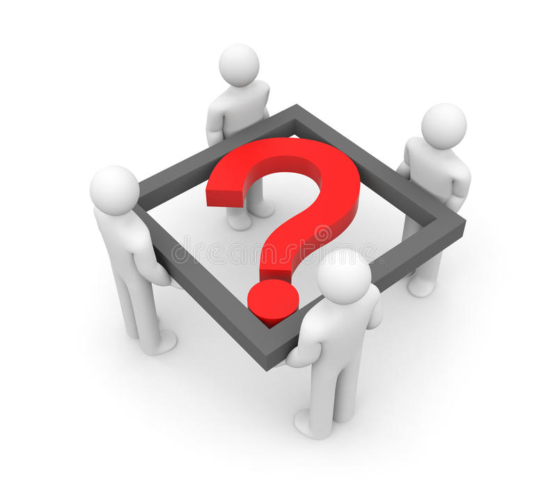 Download Collective decision stock illustration. Image of question - 16090340