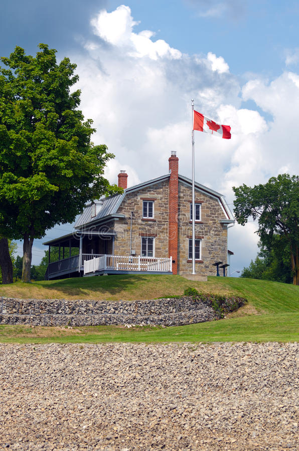Collectors House at the Carillon Canal Historic Site royalty free stock photography
