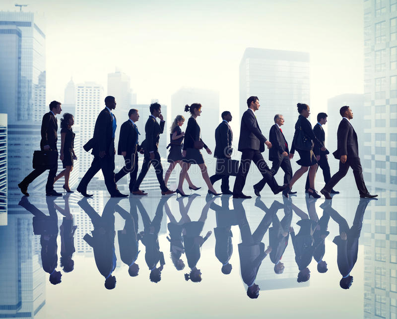 Collega Bedrijfs Collectieve Bureau Stedelijke Scène Team Concept stock afbeelding