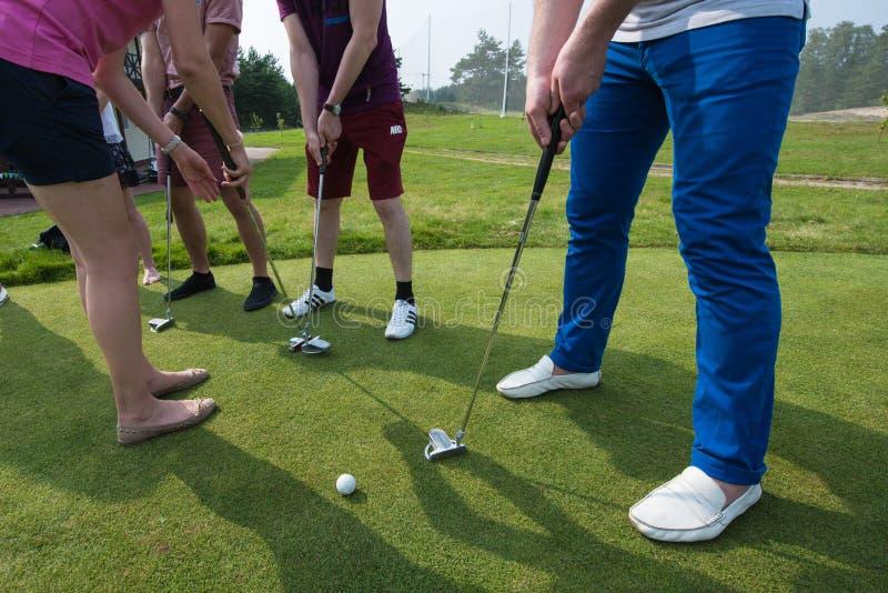 Collegamenti Classe matrice nel golf fotografie stock
