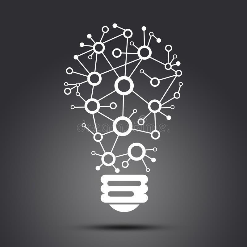 Collegamenti consistenti della lampada illustrazione di stock