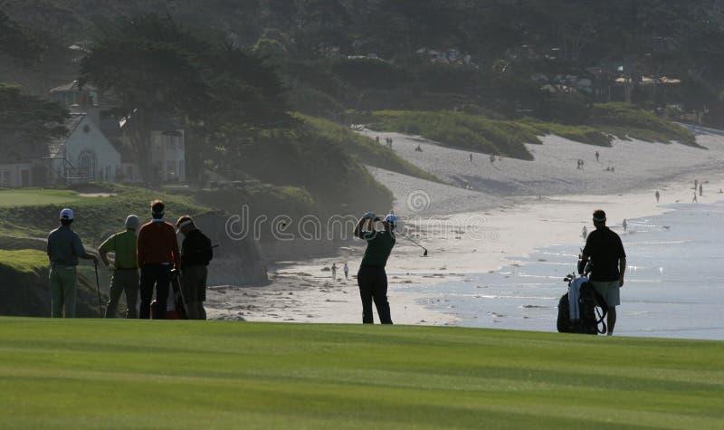 Collegamenti di golf del Pebble Beach, calif immagini stock libere da diritti