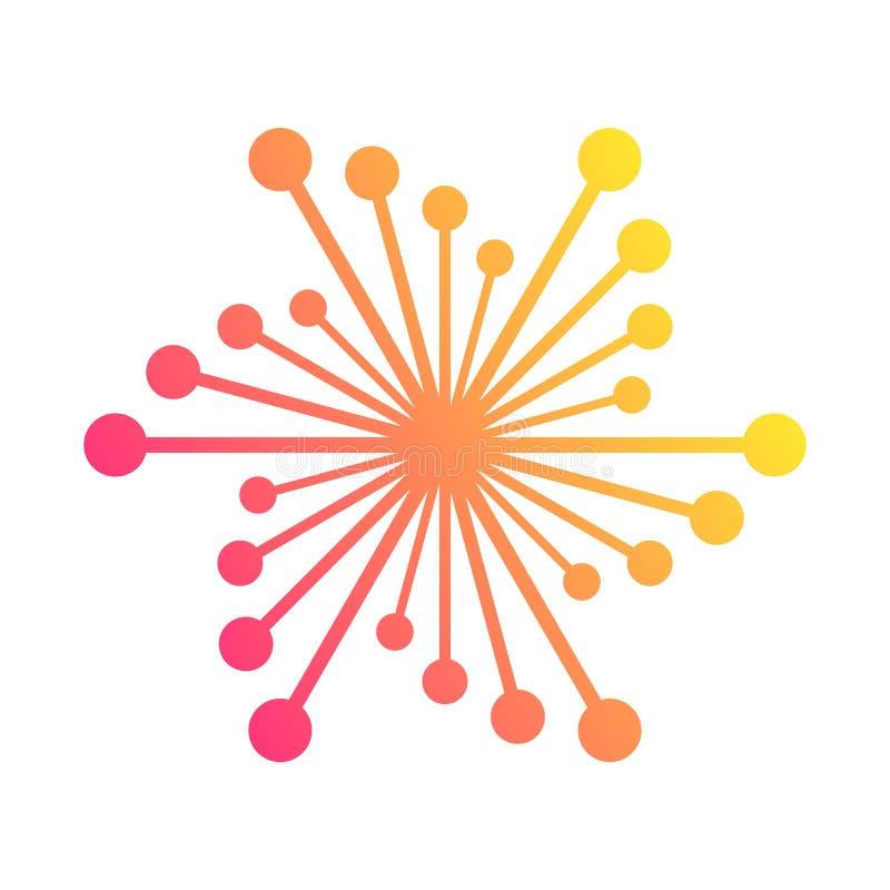 Collegamenti di rete globale con i punti e le linee royalty illustrazione gratis