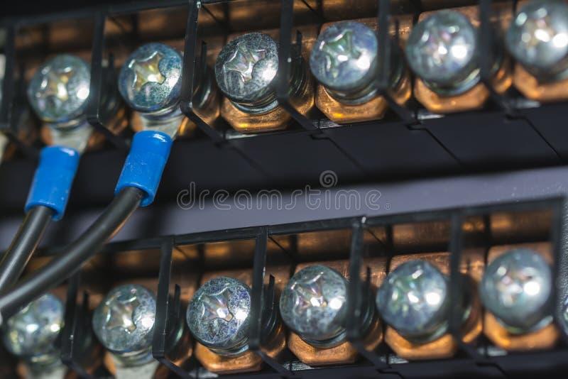 Collegamenti elettrici fotografia stock
