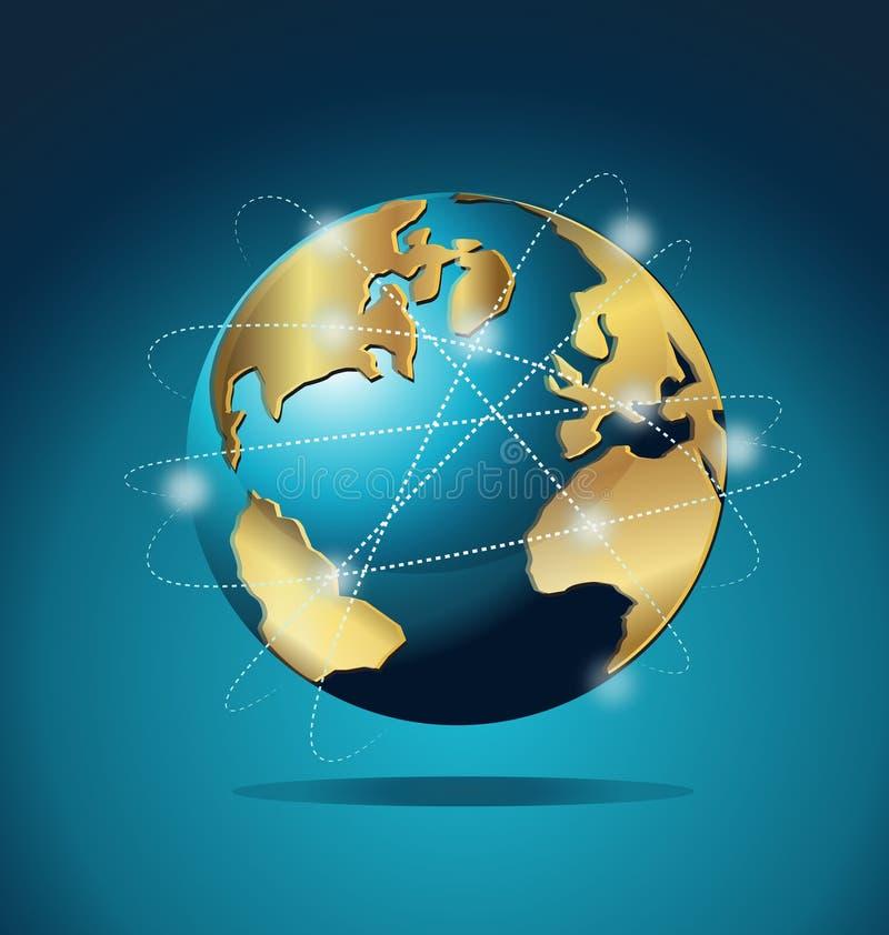 Collegamenti globali di commercio del mondo royalty illustrazione gratis