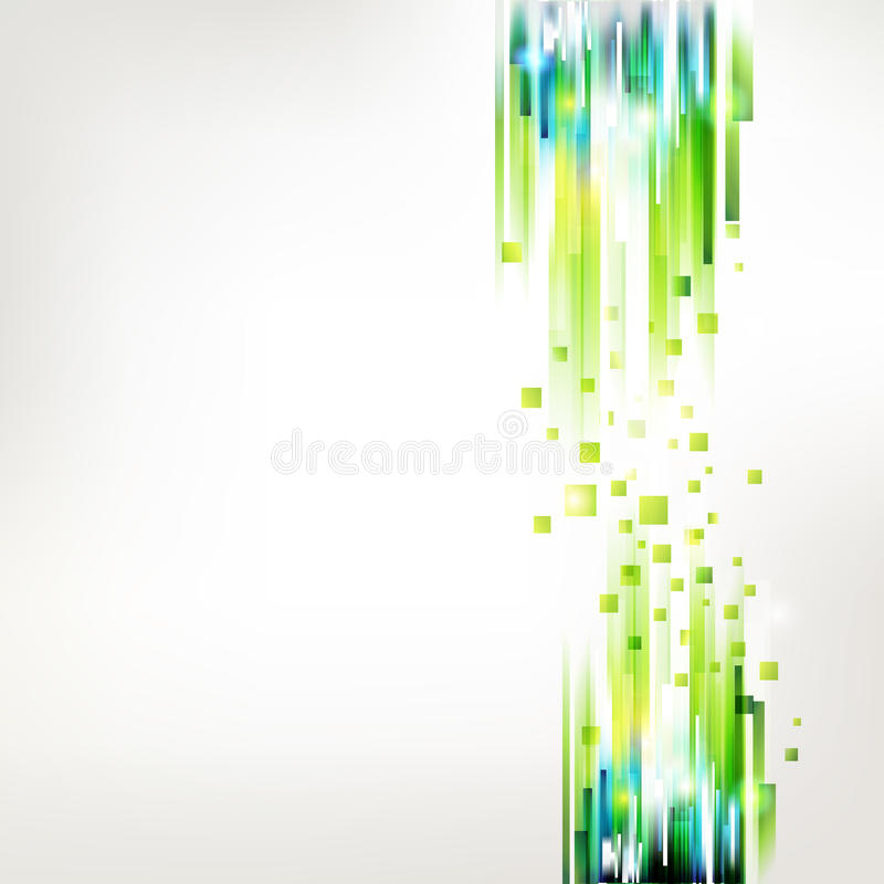 Collegamenti lineari verdi freschi astratti illustrazione di stock