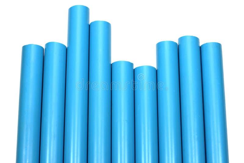 Collegamento di tubo blu del PVC fotografia stock libera da diritti