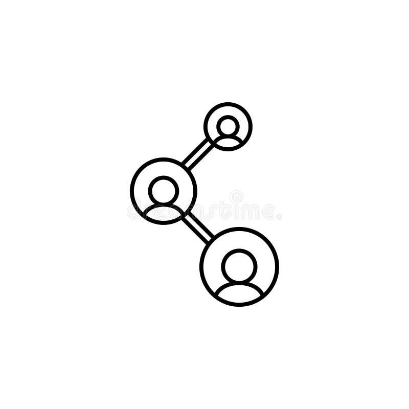 Collegamento, icona di lavoro di squadra su fondo bianco Può essere usato per il web, il logo, il app mobile, UI, UX illustrazione di stock