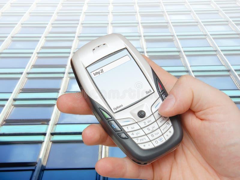 Collegamento a Internet mobile immagine stock