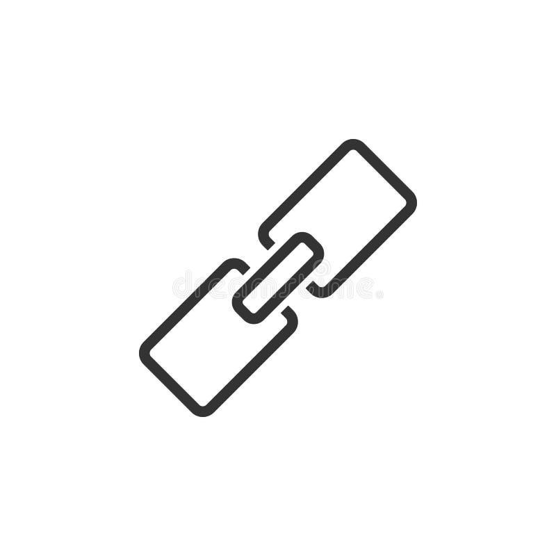 Collegamento, linea icona del URL Illustrazione piana semplice e moderna di vettore per il cellulare app, sito Web o desktop app illustrazione di stock