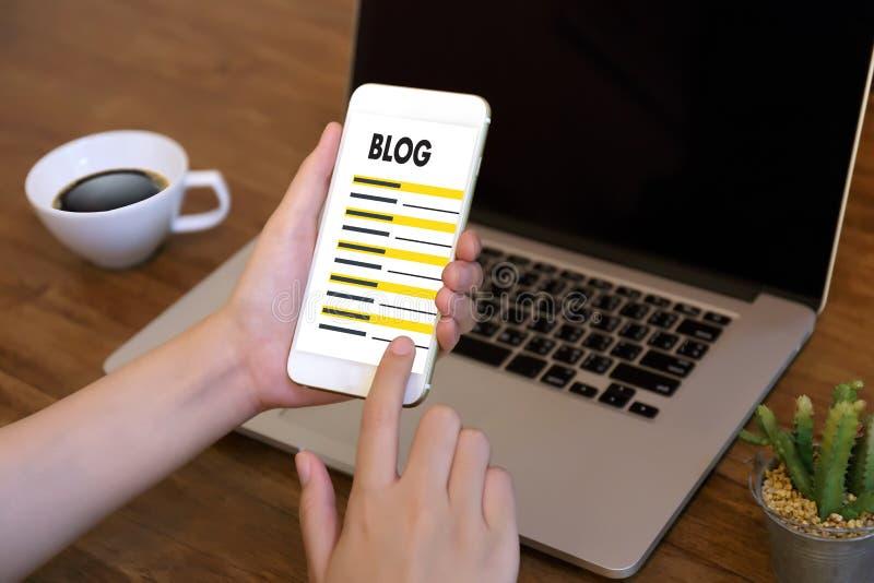 Collegamento sociale N di media della pagina Web online di Internet del sito Web del BLOG immagine stock libera da diritti
