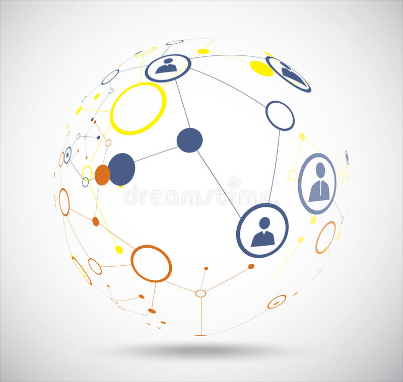 Collegamento umano del globo illustrazione di stock