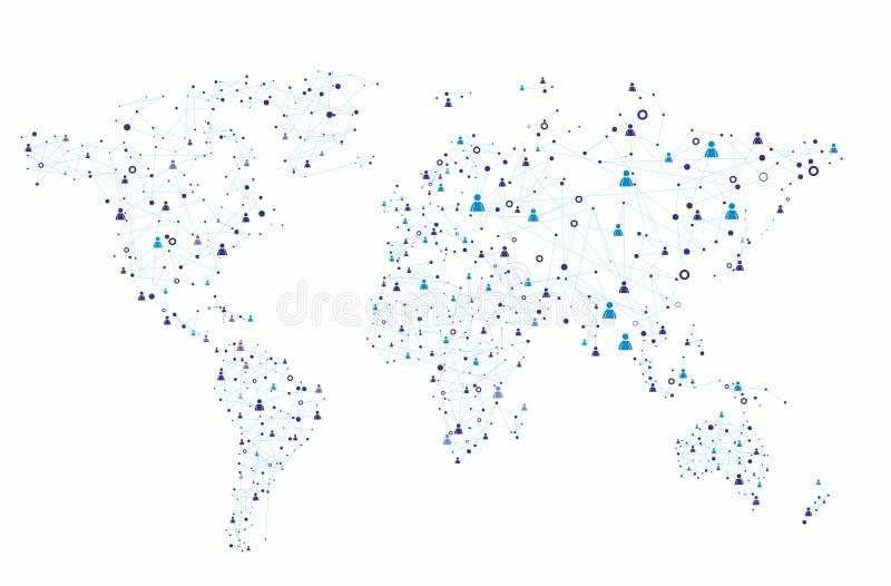 Collegamento umano globale illustrazione vettoriale