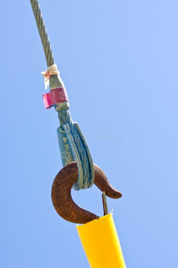Collegare, collegamenti e collegamento del safet delle corde immagini stock