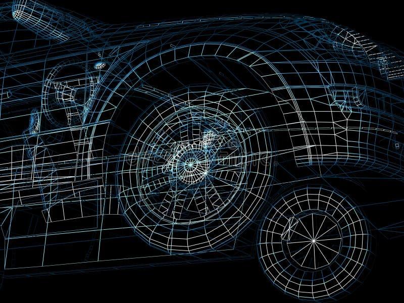 Collegare dell'automobile royalty illustrazione gratis