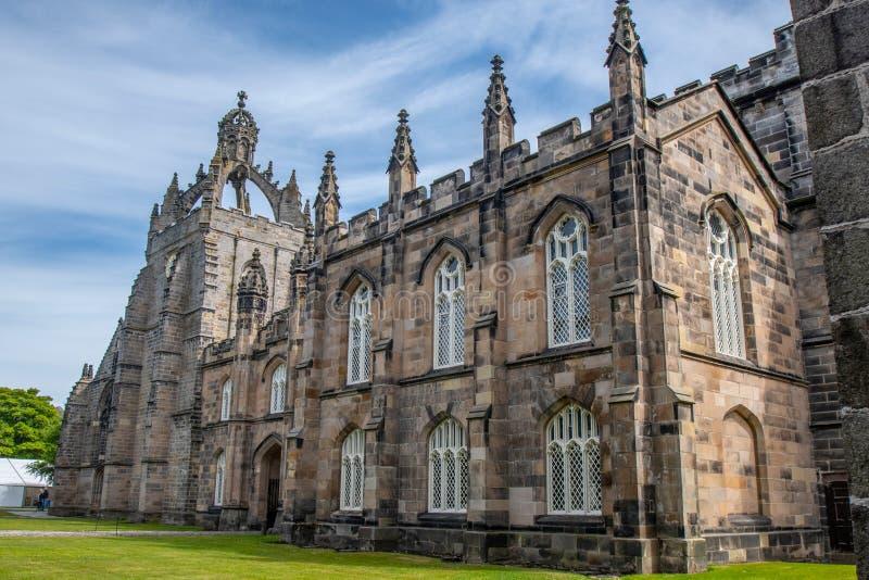 College Aberdeen-Hochschulkönigs Gebäude Dieses ist das älteste stockfotografie