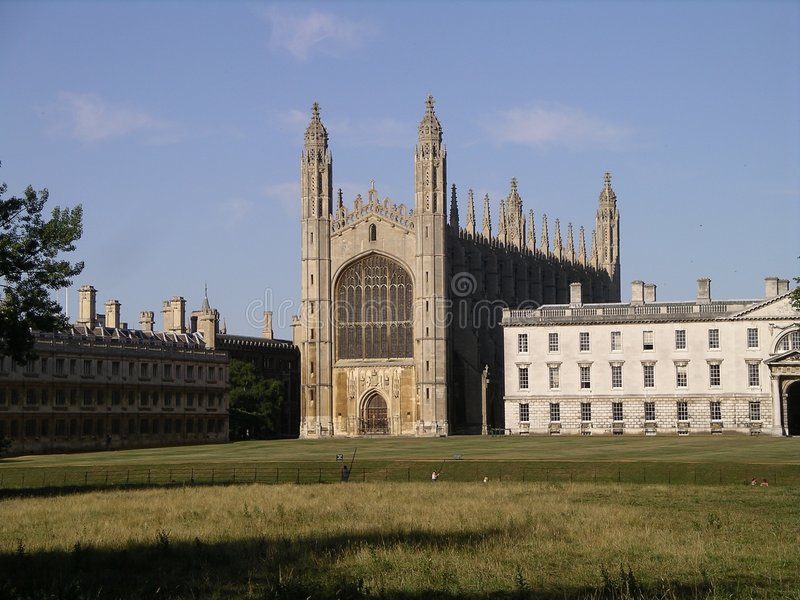 College Cambridge de rey foto de archivo