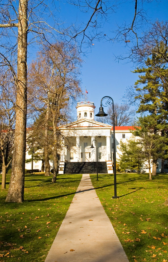 Download College Campus in Fall - 2 stock image. Image of grounds - 1569401
