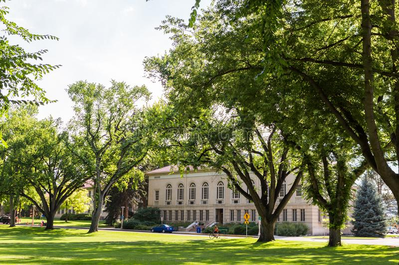 College Campus. Fort Collins, Colorado, USA-July 25, 2016. College campus during the Summer stock photo