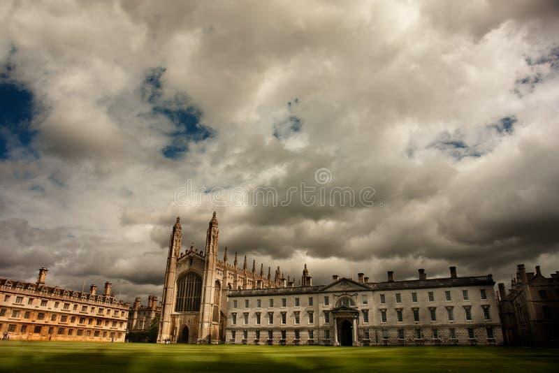 College Chapel, Universidad de Cambridge de rey foto de archivo libre de regalías