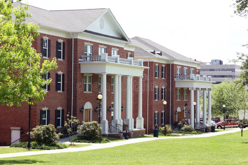 College Dorm. Building located at Millsaps College in Jackson Mississippi royalty free stock photos