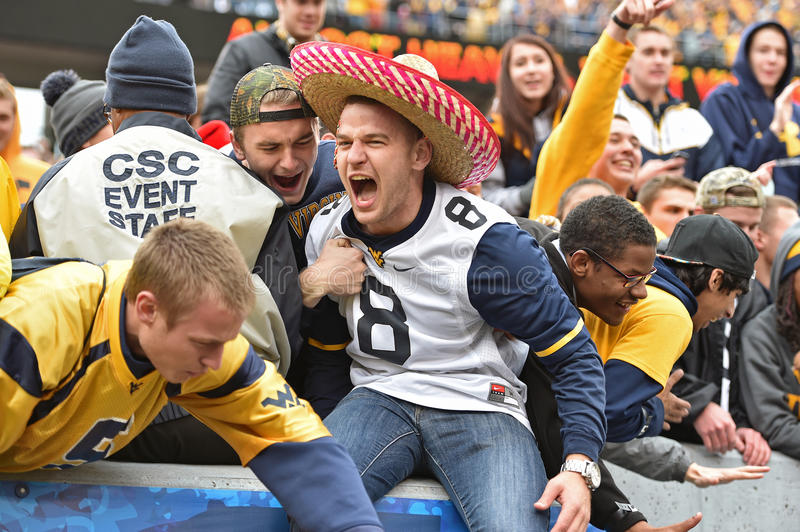 2014 College Football - fans celebration royalty free stock photography