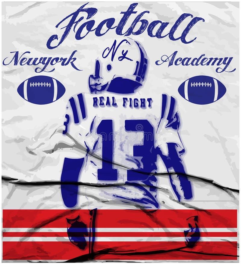 College - Football-Grafiken für T-Shirt, Vektorgrafik stock abbildung