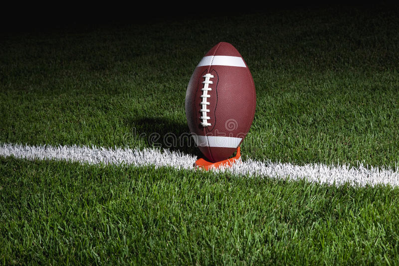 Download College Football On Tee At Night Ready For Kick Of Stock Images - Image: 26439134