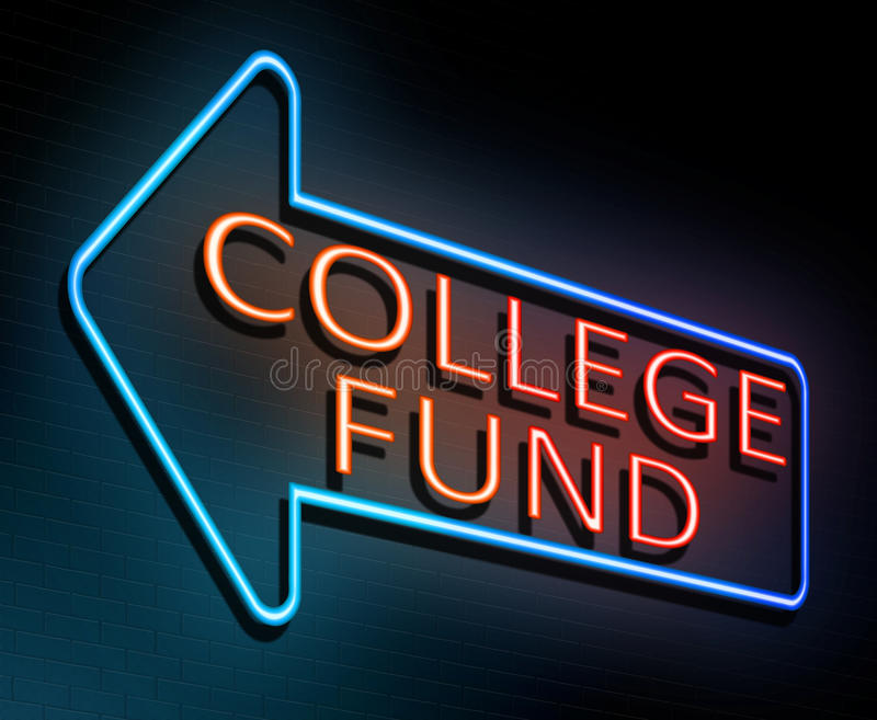 College fund concept. royalty free illustration