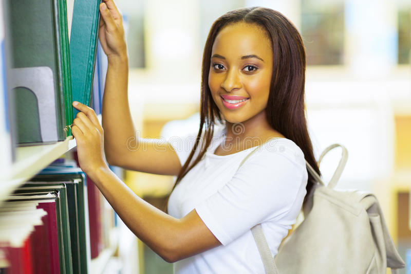 College girl book library royalty free stock photo