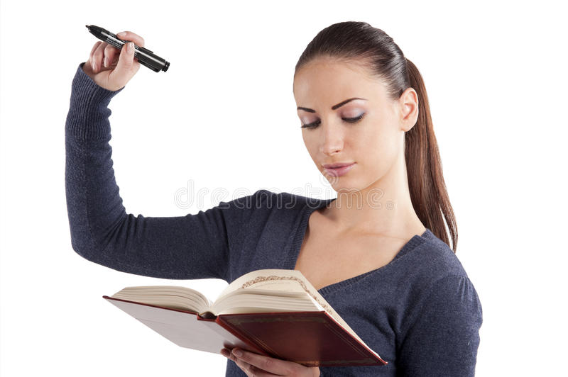 The college girl writing royalty free stock photo