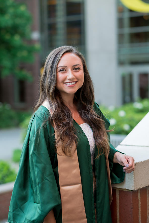 College Graduation Photo on University Campus stock images