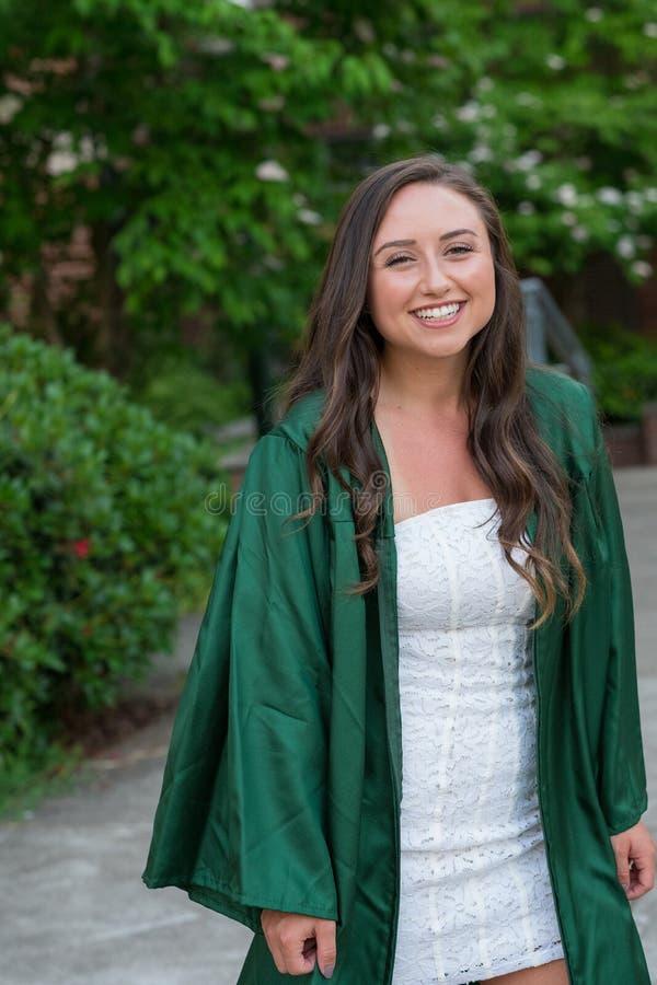 College Graduation Photo on University Campus royalty free stock image