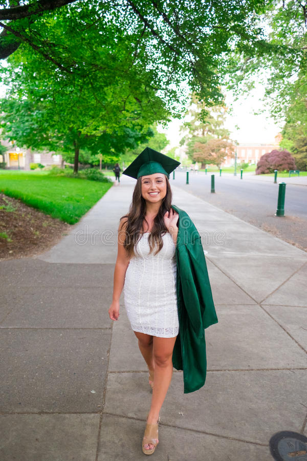 College Graduation Photo on University Campus royalty free stock photos